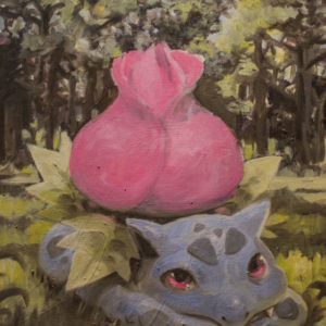 Acrylic and oil on canvas. Inspired by gen III's Pokedex entry: